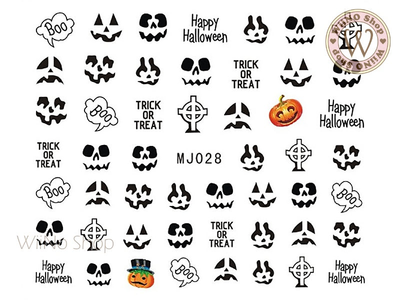 MJ028 Halloween Water Slide Nail Art Decals - 1pc