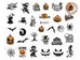 MJ031 Halloween Water Slide Nail Art Decals - 1pc