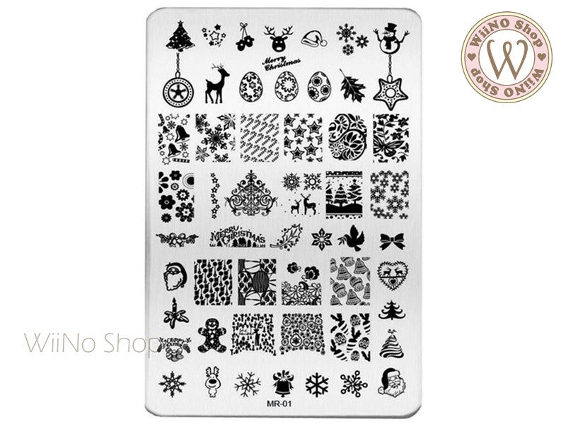 MR-01 Christmas Nail Art Stamping Plate Template – WiiNo Shop