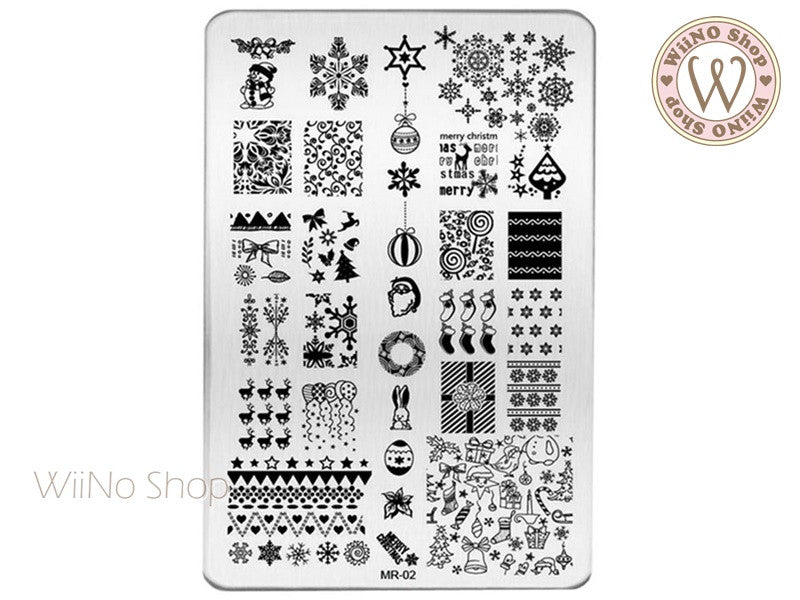 MR-02 Christmas Nail Art Stamping Plate Template – WiiNo Shop