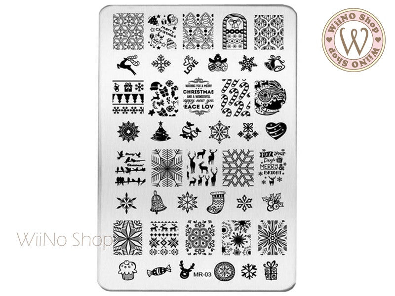 MR-03 Christmas Nail Art Stamping Plate Template