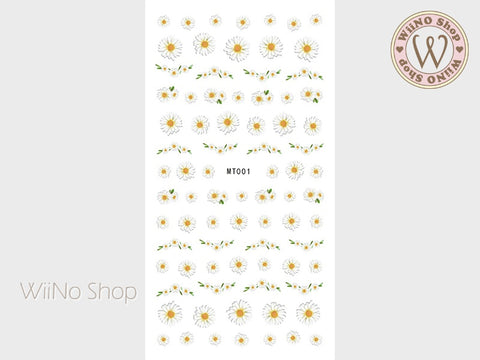 Daisy Flower Adhesive Nail Art Sticker - 1 pc (MT001)