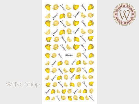 Lemon Adhesive Nail Art Sticker - 1 pc (MT010)