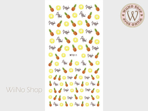 Pineapple Adhesive Nail Art Sticker - 1 pc (MT011)