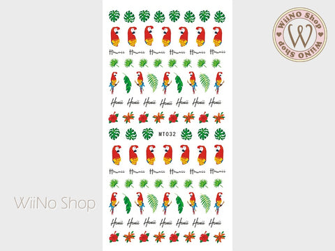 Tropical Parrot Adhesive Nail Art Sticker - 1 pc (MT032)