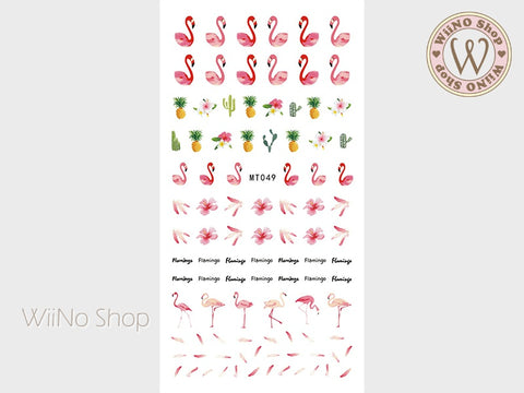Flamingo Adhesive Nail Art Sticker - 1 pc (MT049)