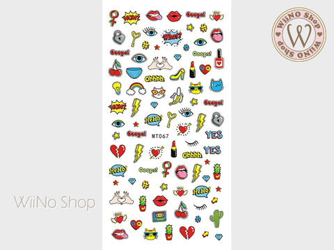 Pop Art Fashion Chic Adhesive Nail Art Sticker - 1 pc (MT067)