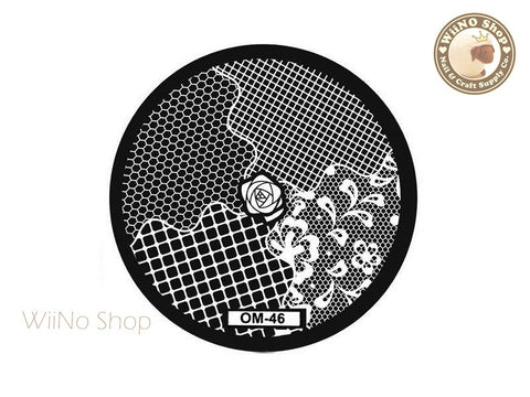 OM-46 Nail Art Stamping Plate Template