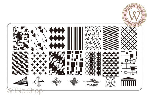 OM-B01 Nail Art Stamping Plate Template