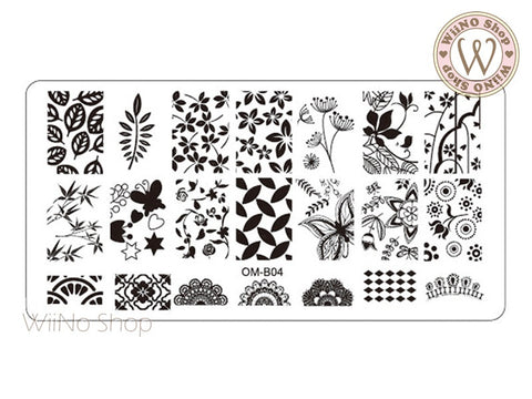 OM-B04 Nail Art Stamping Plate Template