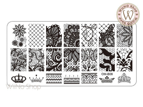 OM-B08 Nail Art Stamping Plate Template