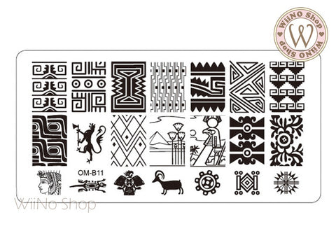 OM-B11 Nail Art Stamping Plate Template
