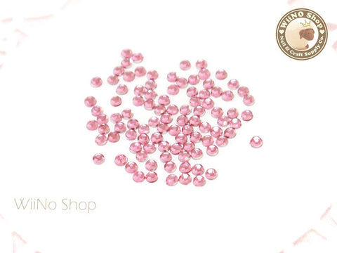 2mm Round Pink Light Rose Flatback Acrylic Rhinestone - 200 pcs