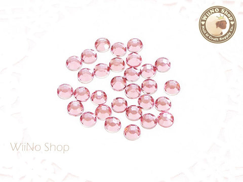 5mm Pink Light Rose Round Flatback Acrylic Rhinestone - 100 pcs