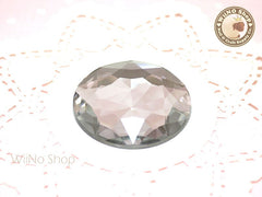 43mm Large Clear Round Flat Back Acrylic Rhinestone - 1 pc