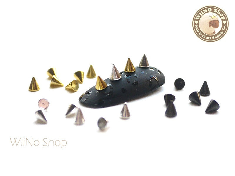 3 x 4mm Mini Nail Metal Spikes Studs - 10 pcs