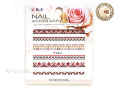 Retro Pixel Pattern Water Slide Nail Art Decals - 1pc (C74)