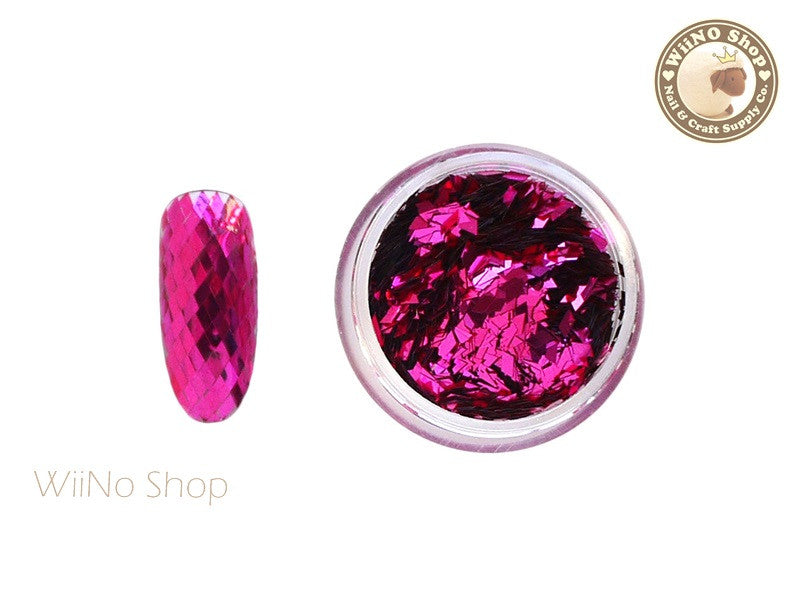 2 x 3mm Hot Pink Diamond Shape Glitter (DM03)