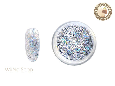 Silver Holographic Glitter Bars / Nail Art Craft (C01)
