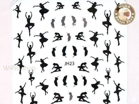 Ballerina Ballet Dancer Adhesive Nail Sticker Nail Art - 1 pc (JH23)