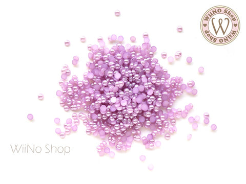 3mm Purple Half Round Pearl - 200 pcs