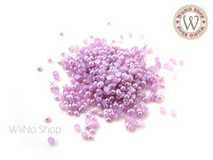 3mm Purple Half Pearl Flat Back Acrylic Rhinestone Nail Art - 200 pcs
