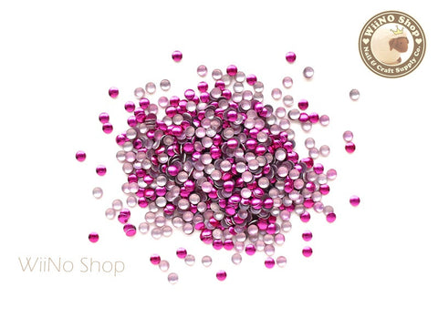 2mm Hot Pink Round Metal Studs - 100 pcs