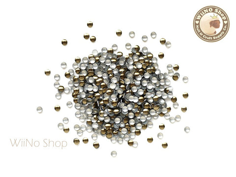 2mm Brown Round Metal Studs - 100 pcs