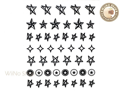 Star Adhesive Nail Sticker Nail Art - 1 pc (HR10)