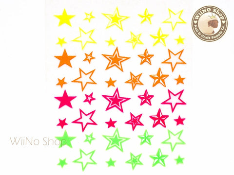Neon Star Adhesive Nail Sticker Nail Art - 1 pc (HR03)