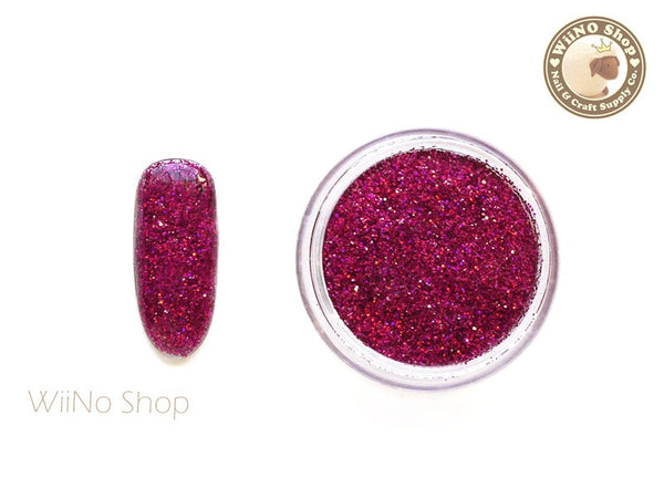 Maroon Red Holographic Glitter Dust Powder / Sparkle Powder / Nail Art Craft (BL04)