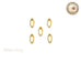 Gold Marquise Frame Nail Art Decoration - 5 pcs