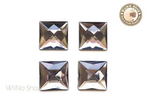 20 x 20mm Black Diamond Square Flat Back Acrylic Rhinestone - 4 pcs