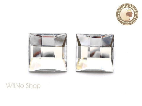 25 x 25mm Clear Square Flat Back Acrylic Rhinestone - 2 pcs