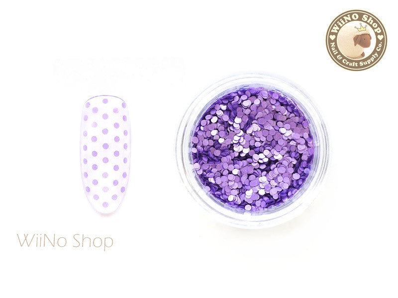 1mm Matte Purple Round Dots Glitter