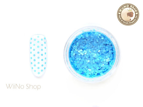 1mm Matte Blue Round Dots Glitter