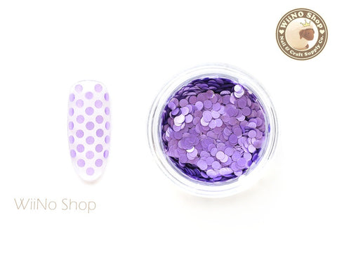 2mm Matte Purple Round Dots Glitter