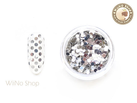 2mm Silver Round Dots Glitter