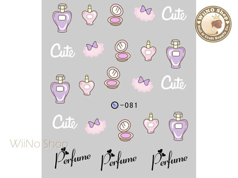 Cute Perfume Water Slide Nail Art Decals - 1pc (DLS-081)