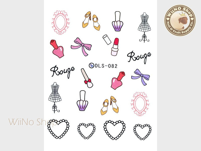 Fashion Girl Water Slide Nail Art Decals - 1pc (DLS-082)