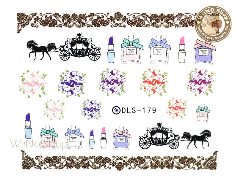 Girl's Dream Water Slide Nail Art Decals - 1pc (DLS-179)