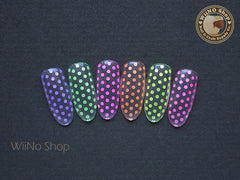 1mm Neon Yellow Round Dots Glitter / Nail Art Craft