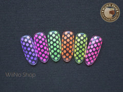 2mm Neon Yellow Round Dots Glitter / Nail Art Craft