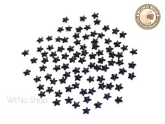 3mm Black Jet Star Flat Back Acrylic Rhinestone Nail Art - 100 pcs