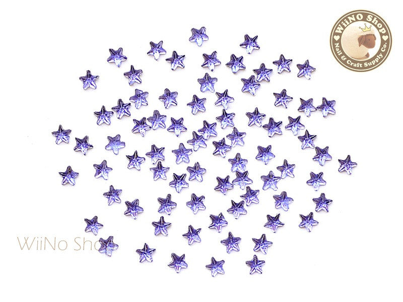 3mm Purple Lavender Star Flat Back Acrylic Rhinestone Nail Art - 100 pcs