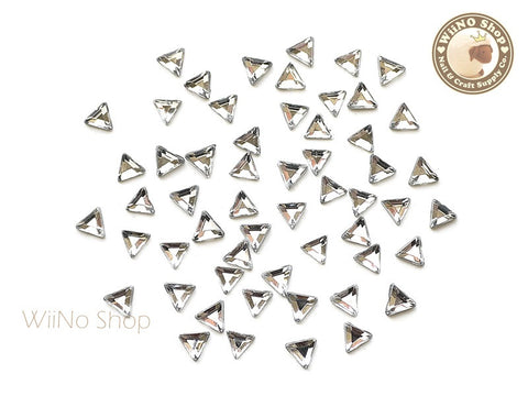 5mm Clear Triangle Flatback Acrylic Rhinestone - 50 pcs