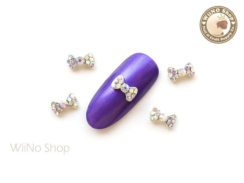 Mini Crystal Bow Nail Metal Charm Nail Art - 2 pcs