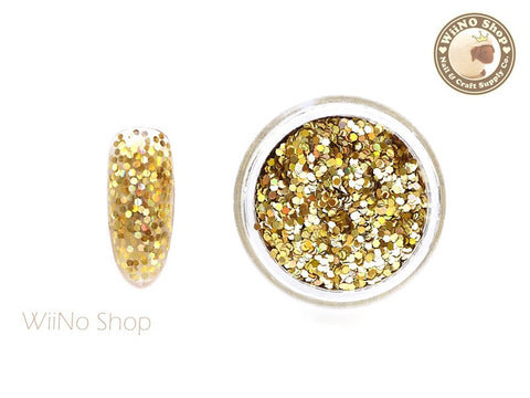 Gold 1mm Hexagon Holographic Glitter (HS02)