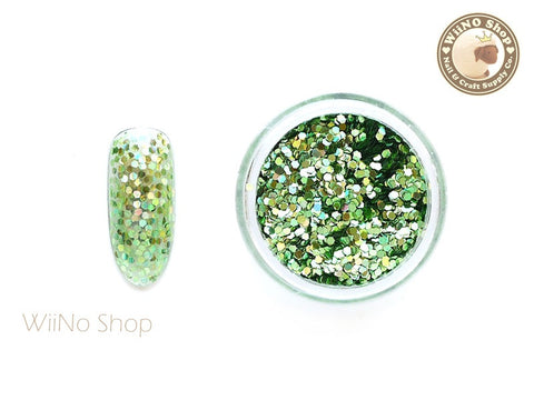 Light Green 1mm Hexagon Holographic Glitter (HS04)