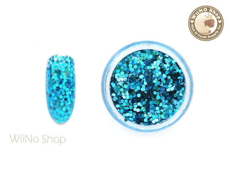 Turquoise 1mm Hexagon Holographic Glitter (HS05)